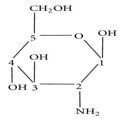 struttura chimica della glucosamina