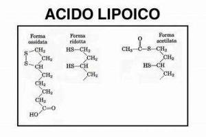 Struttura chimica Acido Alfa Lipoico